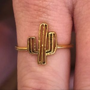 Gold cactus rings-adjustable size